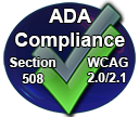 ADA Compliance overlapping spheres of WCAG and Section 508 image